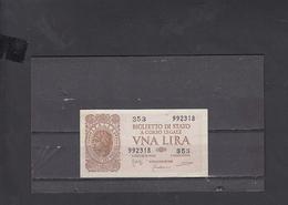 ITALIA  1944 - Unificato 2 - FDS - Italia – 1 Lira