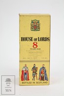 Empty Vintage House Of Lords 8 Years Old Scotch Whisky Presentation Box - Otras Colecciones