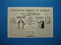 (1927) Manufacture De Flanelles TH. MOREAU à Surgères -- Fabrique De Bonneterie BLOQUERT-DAVESNE à Moliens (Oise) - Vieux Papiers