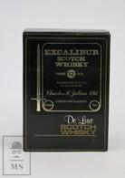 Empty Vintage Excalibur 12 Years Old Scotch Whisky Presentation Box - Otras Colecciones