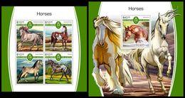 SOLOMON Isl. 2017 - Horses. M/S + S/S - Islas Salomón (1978-...)