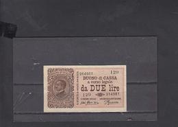 ITALIA  1921 - Unificato  24 - FDS  - Buono Di Cassa - Italia – 2 Lire