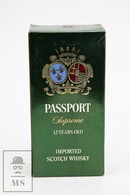 Empty Vintage Passport Supreme 12 Years Old Scotch Whisky Presentation Box - Otros
