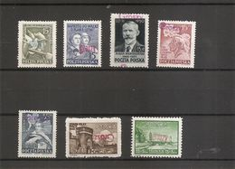 """Pologne ( Lot De 7 Timbres Différents XXX -MNh- Surchargés """"GROSZY"""") - 1944-.... République"""