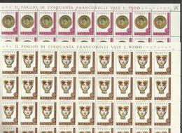 1976 Italia Italy Repubblica EUROPA CEPT EUROPE 50 Serie Di 2v. In Foglio MNH** Sheets - 1976