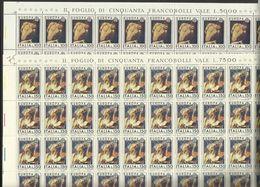 1975 Italia Italy Repubblica EUROPA CEPT EUROPE 50 Serie Di 2v. In Foglio MNH** Sheets - Europa-CEPT