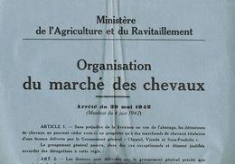 Organisation Du Marche Des Chevaux 1942 - 1939-45