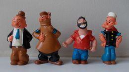 Lot De 4 Figurines - POPEYE - BRUTUS - GONTRAN - HAM - Année 80 Heimo - - Figurines