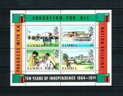Zambia  Nº Yvert  HB-3  En Nuevo - Zambia (1965-...)