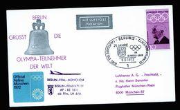 A5125) Olympia München 1972 Sonderflug Berlin-München - Sommer 1972: München