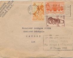 Lettre Dakar Senegal Avion A Reaction Dakar Paris - Sénégal (1887-1944)