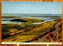 SKY ROAD NEAR CLIFDEN CO. GALWAY IRELAND IRLANDE VOITURE ANCIENNE SCAN R/V - Galway