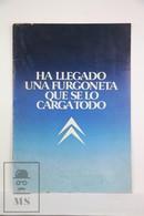 Vintage 1980's Citroen C15 Spanish Advertising Sales Brochure - Coches