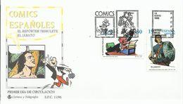 España. 1996. Comics. Personajes Del Tebeo. El Jabato Y Reportero Tribulete Y Arqueología. - FDC