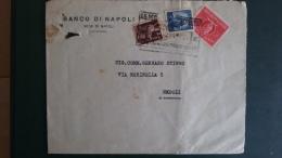 STORIA POSTALE.BUSTA..ITALIA.REPUBBLICA.PUBBLICITARIA.RECAPITO AUTORIZZATO.AFFRANCATURA TRICOLORE.ETICHETTA.141 - 6. 1946-.. Republic
