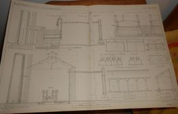 Plan De L'usine à Gaz De La Ville De Meaux. Seine Et Marne.1860 - Travaux Publics