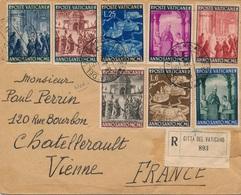 Lettre Recommandée Vatican Vaticano Pour La France - Lettres & Documents
