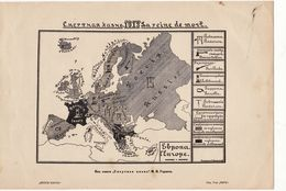 Russia Leaflet. Map Of Russia And Europe Death Penalty 1913 - Documents