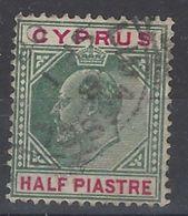 Chipre U 034 (o) Eduardo VII. 1903 - Cyprus (...-1960)