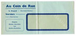 VERVIERS Au Coin De Rue Habits - Publicité