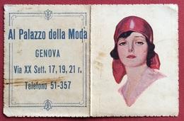 CALENDARIETTO  DEL 1932 AL PALAZZO DELLA MODA GENOVA - Formato Piccolo : 1901-20