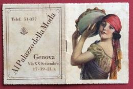 CALCIO CALENDARIETTO  VADEMECUM  1933 AL PALAZZO DELLA MODA GENOVA CALENDARIO CAMPIONATO DI CALCIO,TARIFFE,INDIRIZZI.... - Calendari