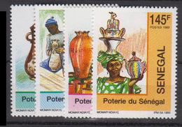 Sénégal     1989       N.        842 / 845                    COTE    3 , 80        EUROS      ( S 881 ) - Sénégal (1960-...)