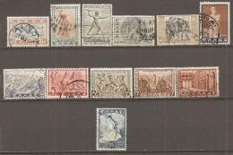 Yv. N°  422 à 434, Sauf 433 Et 423A  (o)  Histoire   Cote  2,3  Euro  BE 2 Scans - Greece