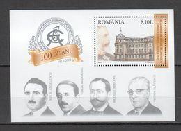 Z314 2013 ROMANIA ARCHITECTURE 100 YEARS ACADEMIA ECONOMICE 1BL MNH - Architektur