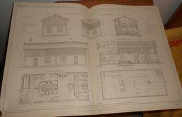 Plan D'une Blanchisserie économique Pour 200 Laveuses.1860 - Travaux Publics