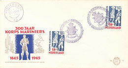 DC-0911 - 1965 NETHERLANDS - FDC KORPS MARINIERS OP COVER NVPH - FDC