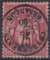 """Besançon (Doubs) : Càd 15 """"Chargements"""" Sur Sage N°71. - 1876-1898 Sage (Type II)"""