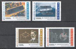 Z324 2001 ROMANIA ACHIEVEMENTS MILLENIUM SECOLUL 1SET MNH - Raumfahrt