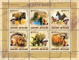 GUINEA BISSAU 2005 - Rhinoceros, Fauna Of Africa - YT 1804-9 - Rhinozerosse