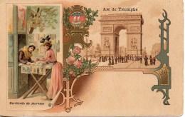 75 PARIS  Marchande De Journaux  (carte Illustrée) - Petits Métiers à Paris
