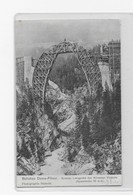 1908, RHB - Davos-Filisur - Wiesener Viadukt Lehrbau - GR Grisons