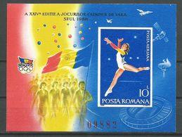 Romania,SOG-Seoul '88 1988.,block-imperforated,MNH - 1948-.... Republics