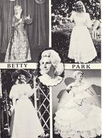 Carte Publicité Artiste Lyrique Variétés Moiselles Betty Park Chant Danse - Programmes