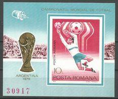 Romania,World Cup-Argentina '78 1978.,block-imperforated,MNH - 1948-.... Republics
