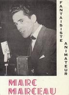 Carte Publicité Artiste Cirque Variétés Music Hall Marc Marceau - Programme