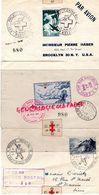CROIX ROUGE- ENVELOPPE AVION PER VLIEGTUIG-BRUSSELS-NEW YORK 1946-MUSEE POSTAL 1947-ROBERT VEKENS -BELGIQUE-75 PARIS 89 - Marcophilie (Lettres)