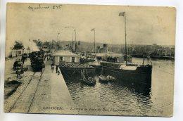 50 CHERBOURG  Nd 56- Arrivée Train Au Quai D'Embarquement Bateaux Port   1909 Timbrée    /DO2-2018 - Cherbourg