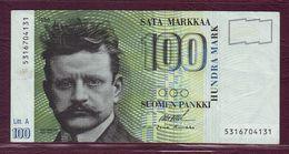 FINLANDE - 100 MARKKAA Jean Sibelius - 1986 - P.115 - Finlande