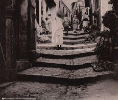 Grande Photo Afrique Algérie Alger La Kasbah Rue Kléber Par Leroux - Afrika