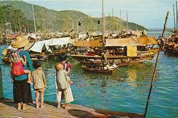 Hong-Kong - A Scene At A Fishing Village Aberdeen - Chine (Hong Kong)