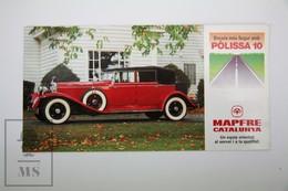 Spanish Mapfre Insurance Advertising Postcard - Red Rolls Royce 1920's Classic Car - Turismo