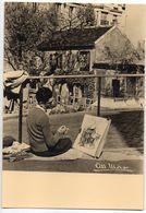 """PARIS 18 éme--par Photographe  Albert MONIER  -- """"Le Lapin Agile """"  à Paris Montmartre (1er Plan Peintre) - Arrondissement: 18"""