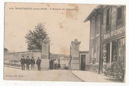 MONTREUIL SOUS BOIS - N° 159 - L'ENTREE DU CIMETIERE - Montreuil