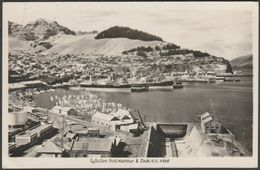 Boat Harbour & Dock, Lyttelton, New Zealand, 1953 - RP Postcard - New Zealand