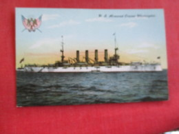 U.S. Armored Cruiser  Washington  Ref 2834 - Warships